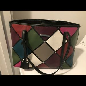 Dana Buchman multicolored tote bag